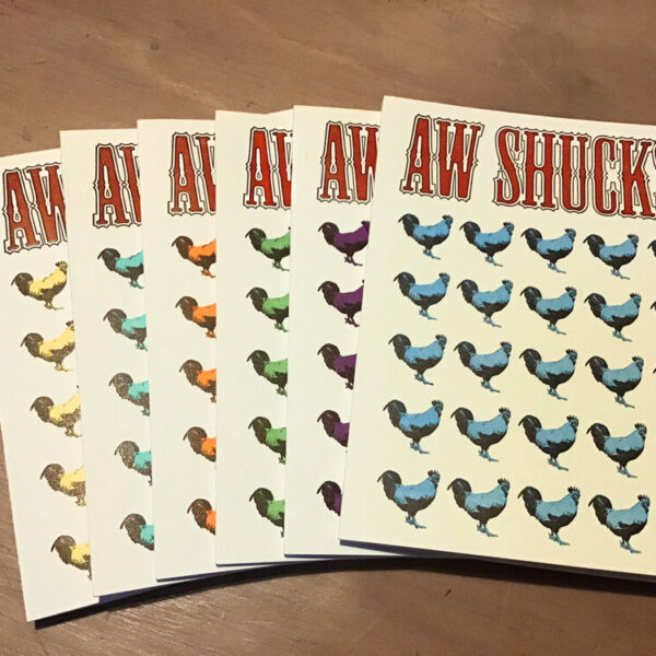Aw Shucks #2 - Set of 6 letterpress cards w/ envelopes