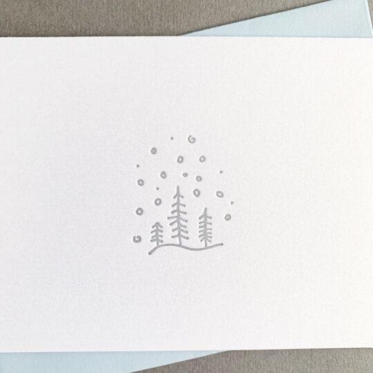 snowy trees - Box Set of 6