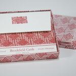 Red Diamond Folded Card Set