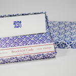 Indigo Blossom Folded Card Set