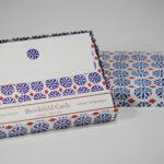 Blue Daisy Folded Card Set