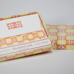 Orange Compass Folded Card Set