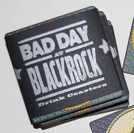 Bad Day At Blackrock - Set of 8 letterpress Coasters