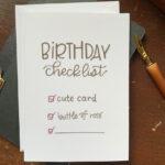 Birthday Checklist